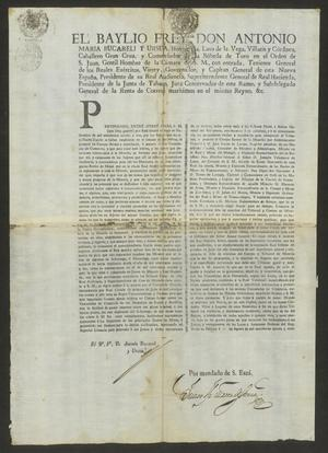 Primary view of object titled '[Decree from Viceroy Bucareli to Spanish Officials]'.