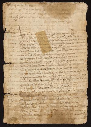 Primary view of [Correspondence Between Joseph Guerra and the Governor of Nuevo Santander]