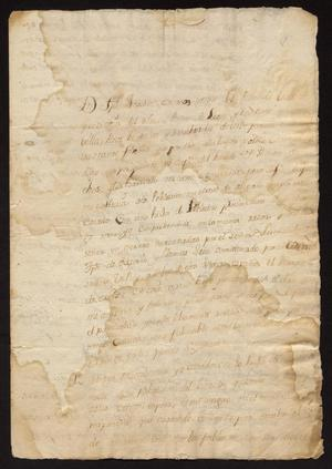 Primary view of object titled '[Petition from Joseph Joaquín Cavasos]'.