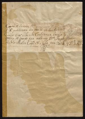 Primary view of [Decree Prohibiting Unlawful Manufacturing of Gunpowder]