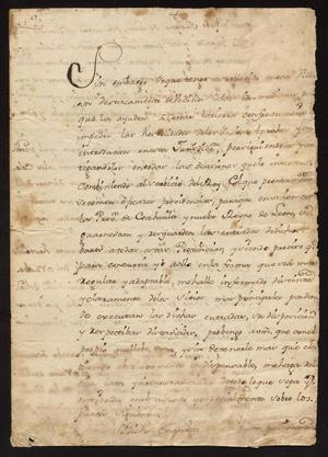 Primary view of [Letter from Governor Vicente González to Captain Tomás Sánchez, June 13, 1775]