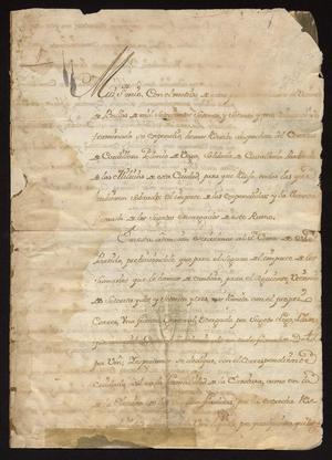 Primary view of [Correspondence from Francisco Sales Carillo to Tomás Sánchez]