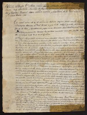 Primary view of [Decree from Viceroy Alonso Núñez de Haro y Peralta]