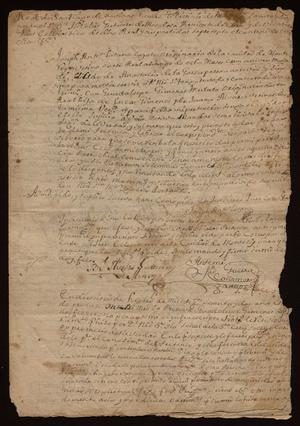 Primary view of object titled '[Correspondence Concerning a Marriage License]'.