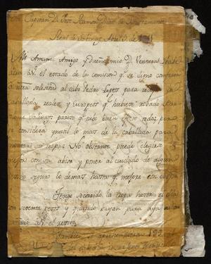 Primary view of [Letter from Santiago Vedia to José Ramón Díaz de Bustamente, April 3, 1811]