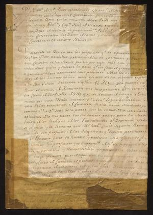 Primary view of [Decree from Viceroy Manual Antonio Flores Maldonado]