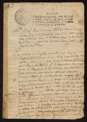 Primary view of [Ordinances by Miguel Ponce Borrego]