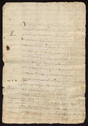 Primary view of [Petition and Decree from Joseph Pérez and Tomás Sánchez]