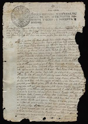 Primary view of [Official Record from José Jesús de la Garza to the Governor]