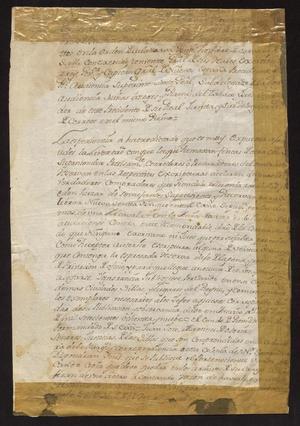 Primary view of [Decree from Viceroy Juan Vicente Güemez]