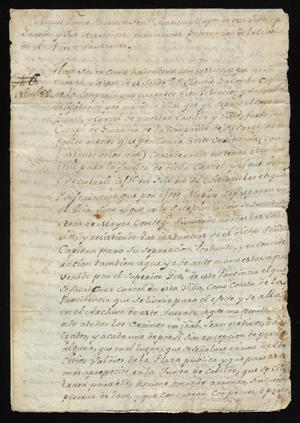 Primary view of [Orders from Miguel Borrego to Citizens of Laredo]