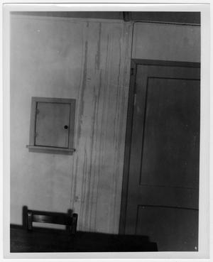 Primary view of object titled '[Water Damage near a Door]'.