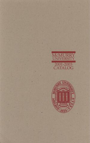 Primary view of object titled 'Bulletin of McMurry University, 2001-2003'.