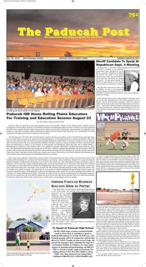 The Paducah Post (Paducah, Tex.), Vol. 106, No. 29, Ed. 1 Tuesday, August 28, 2012