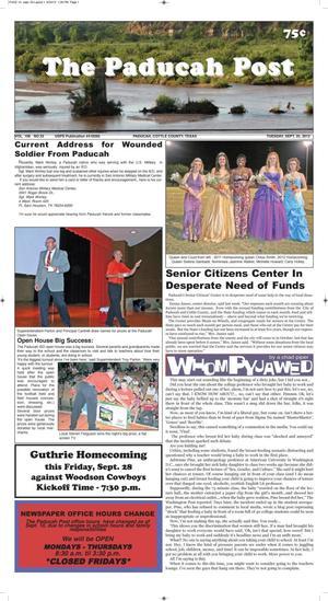 The Paducah Post (Paducah, Tex.), Vol. 106, No. 33, Ed. 1 Tuesday, September 25, 2012