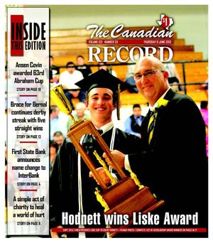 Primary view of object titled 'The Canadian Record (Canadian, Tex.), Vol. 123, No. 23, Ed. 1 Thursday, June 6, 2013'.