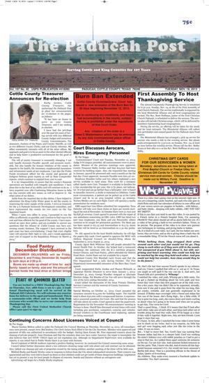 The Paducah Post (Paducah, Tex.), Vol. 107, No. 40, Ed. 1 Tuesday, November 19, 2013