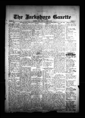 Primary view of object titled 'The Jacksboro Gazette (Jacksboro, Tex.), Vol. 55, No. 13, Ed. 1 Thursday, August 30, 1934'.