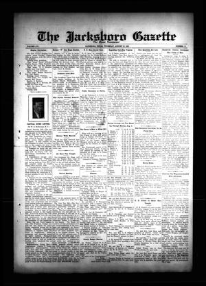 Primary view of object titled 'The Jacksboro Gazette (Jacksboro, Tex.), Vol. 56, No. 11, Ed. 1 Thursday, August 15, 1935'.