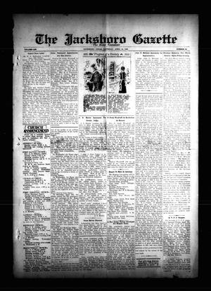 Primary view of object titled 'The Jacksboro Gazette (Jacksboro, Tex.), Vol. 54, No. 46, Ed. 1 Thursday, April 12, 1934'.