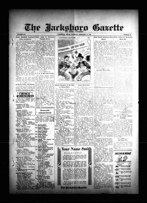 The Jacksboro Gazette (Jacksboro, Tex.), Vol. 54, No. 38, Ed. 1 Thursday, February 15, 1934
