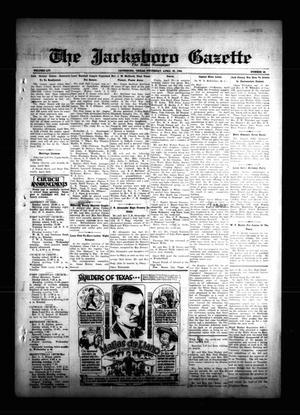 The Jacksboro Gazette (Jacksboro, Tex.), Vol. 54, No. 48, Ed. 1 Thursday, April 26, 1934