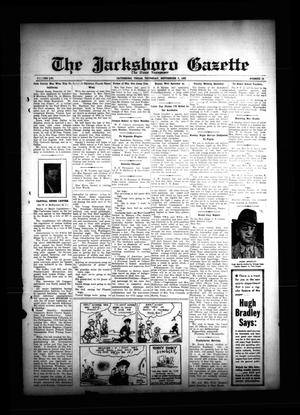 Primary view of object titled 'The Jacksboro Gazette (Jacksboro, Tex.), Vol. 56, No. 14, Ed. 1 Thursday, September 5, 1935'.