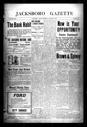 Jacksboro Gazette (Jacksboro, Tex.), Vol. 34, No. 33, Ed. 1 Thursday, January 15, 1914