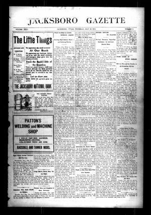 Jacksboro Gazette (Jacksboro, Tex.), Vol. 35, No. 8, Ed. 1 Thursday, July 23, 1914