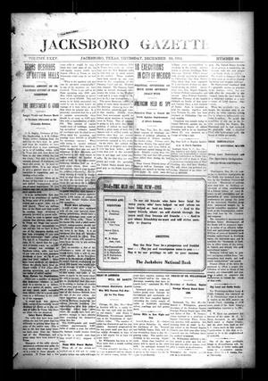 Jacksboro Gazette (Jacksboro, Tex.), Vol. 35, No. 28, Ed. 1 Thursday, December 24, 1914