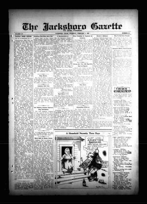 Primary view of object titled 'The Jacksboro Gazette (Jacksboro, Tex.), Vol. 55, No. 36, Ed. 1 Thursday, February 7, 1935'.