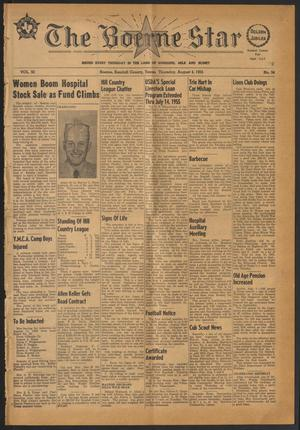 Primary view of object titled 'The Boerne Star (Boerne, Tex.), Vol. 50, No. 34, Ed. 1 Thursday, August 4, 1955'.