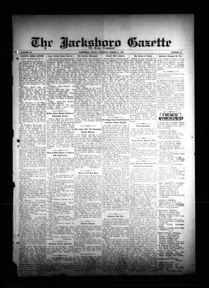 Primary view of object titled 'The Jacksboro Gazette (Jacksboro, Tex.), Vol. 55, No. 42, Ed. 1 Thursday, March 21, 1935'.