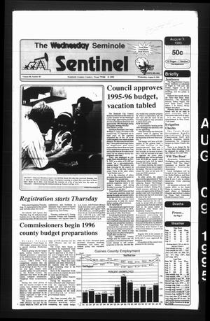 Primary view of object titled 'The Seminole Sentinel (Seminole, Tex.), Vol. 88, No. 83, Ed. 1 Wednesday, August 9, 1995'.