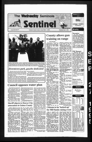 Primary view of object titled 'The Seminole Sentinel (Seminole, Tex.), Vol. 88, No. 97, Ed. 1 Wednesday, September 27, 1995'.