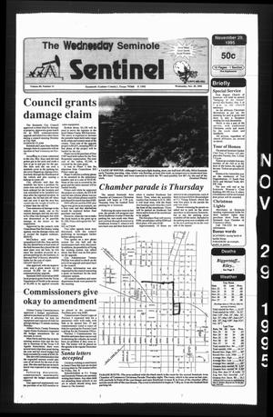 Primary view of object titled 'The Seminole Sentinel (Seminole, Tex.), Vol. 89, No. 11, Ed. 1 Wednesday, November 29, 1995'.