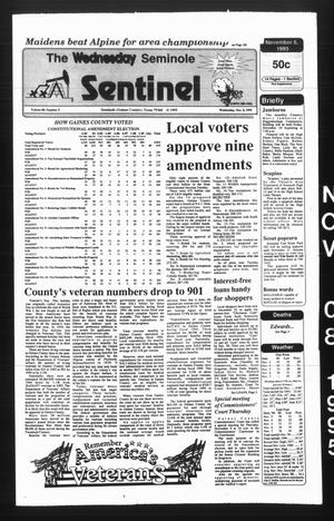 The Seminole Sentinel (Seminole, Tex.), Vol. 89, No. 5, Ed. 1 Wednesday, November 8, 1995