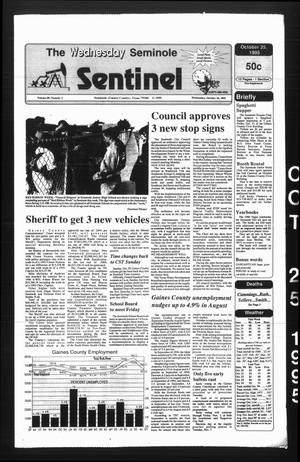 Primary view of object titled 'The Seminole Sentinel (Seminole, Tex.), Vol. 89, No. 1, Ed. 1 Wednesday, October 25, 1995'.