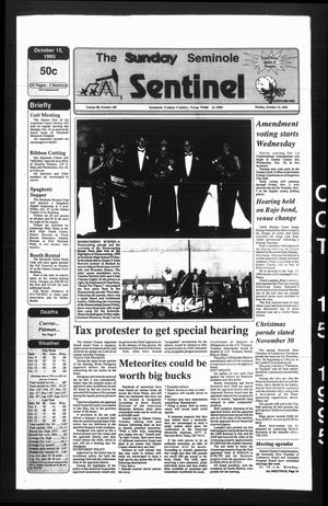 The Seminole Sentinel (Seminole, Tex.), Vol. 88, No. 102, Ed. 1 Sunday, October 15, 1995