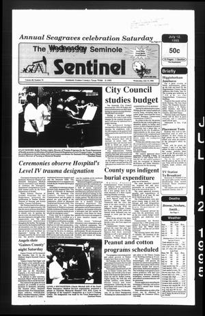 Primary view of object titled 'The Seminole Sentinel (Seminole, Tex.), Vol. 88, No. 75, Ed. 1 Wednesday, July 12, 1995'.