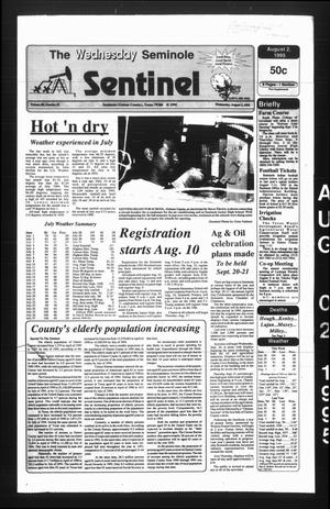 Primary view of object titled 'The Seminole Sentinel (Seminole, Tex.), Vol. 88, No. 81, Ed. 1 Wednesday, August 2, 1995'.