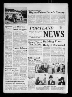 Primary view of object titled 'Portland News (Portland, Tex.), Vol. 9, No. 30, Ed. 1 Thursday, July 25, 1974'.