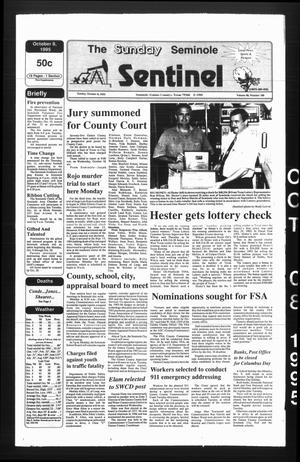 Primary view of object titled 'The Seminole Sentinel (Seminole, Tex.), Vol. 88, No. 100, Ed. 1 Sunday, October 8, 1995'.