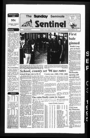 Primary view of object titled 'The Seminole Sentinel (Seminole, Tex.), Vol. 88, No. 90, Ed. 1 Sunday, September 3, 1995'.