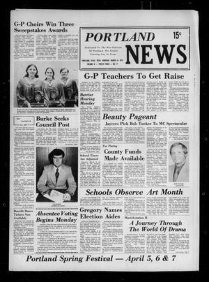Primary view of object titled 'Portland News (Portland, Tex.), Vol. 9, No. 11, Ed. 1 Thursday, March 14, 1974'.