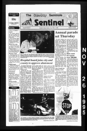 Primary view of object titled 'The Seminole Sentinel (Seminole, Tex.), Vol. 89, No. 10, Ed. 1 Sunday, November 26, 1995'.