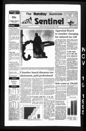 The Seminole Sentinel (Seminole, Tex.), Vol. 89, No. 8, Ed. 1 Sunday, November 19, 1995