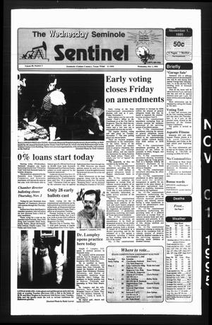 The Seminole Sentinel (Seminole, Tex.), Vol. 89, No. 3, Ed. 1 Wednesday, November 1, 1995