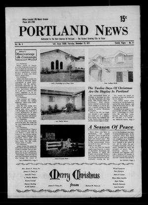 Primary view of object titled 'Portland News (Portland, Tex.), Vol. 6, No. 51, Ed. 1 Thursday, December 23, 1971'.