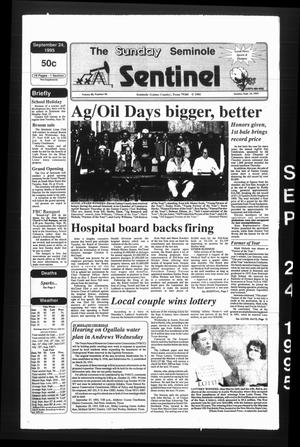 Primary view of object titled 'The Seminole Sentinel (Seminole, Tex.), Vol. 88, No. 96, Ed. 1 Sunday, September 24, 1995'.